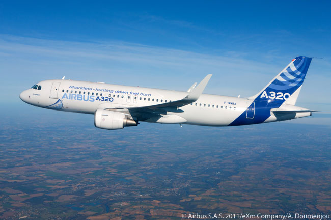 On November 30, 2011, Airbus completed the first flight of the 'Sharklet' wing-tip devices on the company's A320 development aircraft (MSN 001). This milestone marks the start of the early flight-test campaign to capture data for fine-tuning the flight laws for a Sharklet-equipped A320, as well as for certification and performance validation