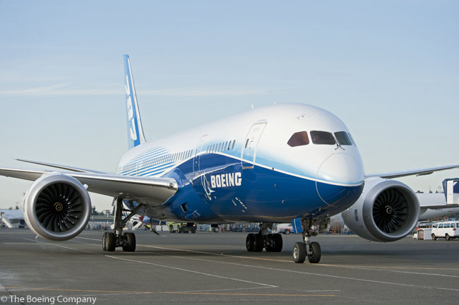 From November 2011 to June 2012, the third flight-test Boeing 787-8, given the internal Boeing designation ZA003, was scheduled on an extensive tour throughout the world to show the new 787 to customers and production-program partners