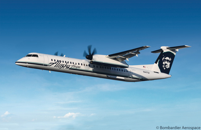 Alaska Air Group subsidiary Horizon Air ordered an additional two Bombardier Q400 NextGen turboprops on February 15, 2012, to join its 48-strong Q400 fleet