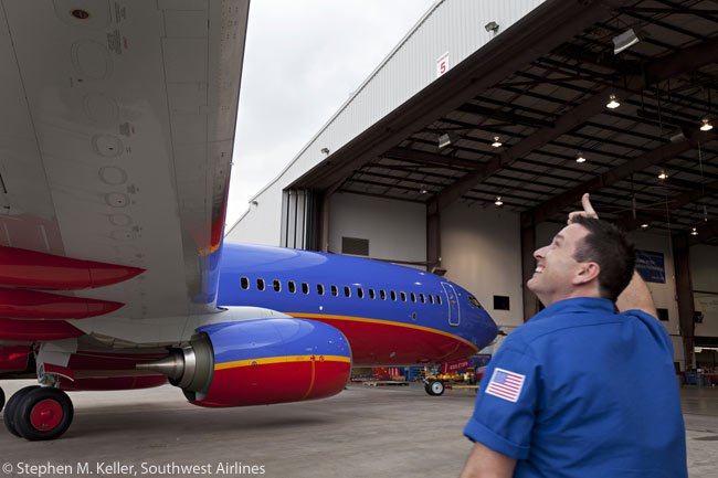 Southwest Airlines received its first Boeing 737-800 new from Boeing on March 8, 2012