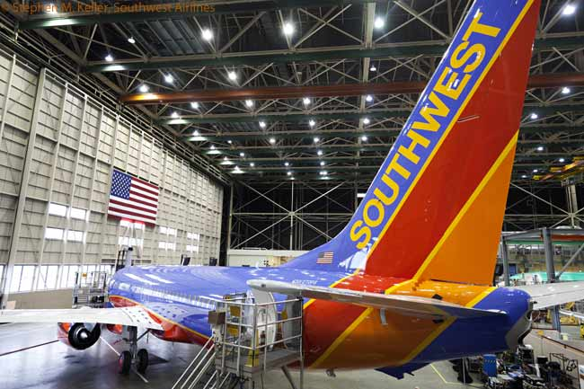 Southwest Airlines began taking delivery of Boeing 737-800s in March 2012. The 737-800 is the largest aircraft in Southwest's fleet
