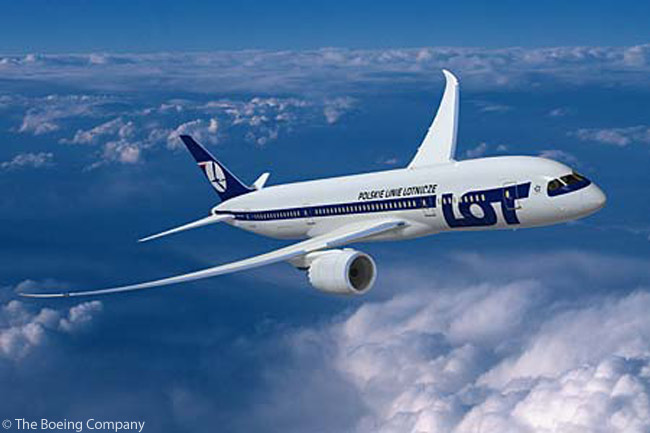 As of late 2012, LOT Polish Airlines had eight Boeing 787-8s on firm order and had taken options on a further six. LOT took delivery  its first Boeing 787-8 on November 14, 2012