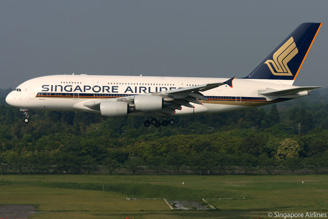 Singapore Airlines was the first airline to operate the Airbus A380 superjumbo, operating its first commercial flight with the type between Singapore and Sydney in October 2007