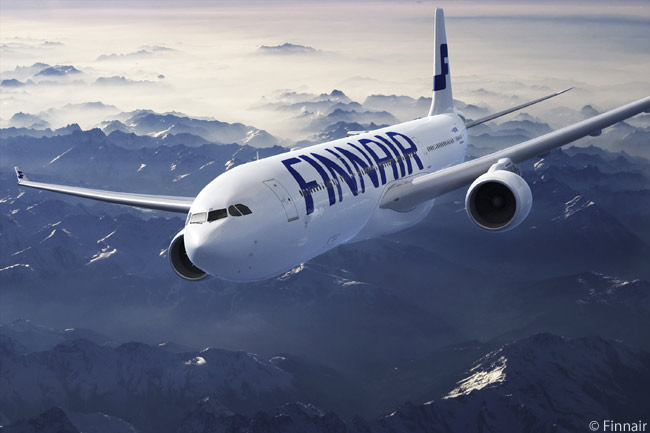 Finnair's fleet for long-haul scheduled services is comprised of eight Airbus A330-300s and seven A340-300s. The carrier also has 11 A350-900 widebody twins on order, with deliveries due to begin in mid-decade