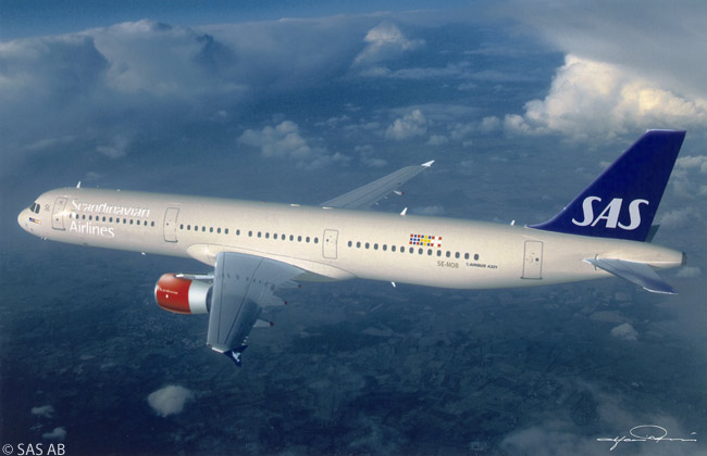 Scandinavian Airlines is unusual in operating both Airbus A320-family aircraft and Boeing 737s, with the Airbus single-aisle jets mainly based at the three-nation carrier's hub at Copenhagen and the 737s mainly based at its hubs at Oslo and Stockholm. Among SAS' A320-family jets are eight A321-200s