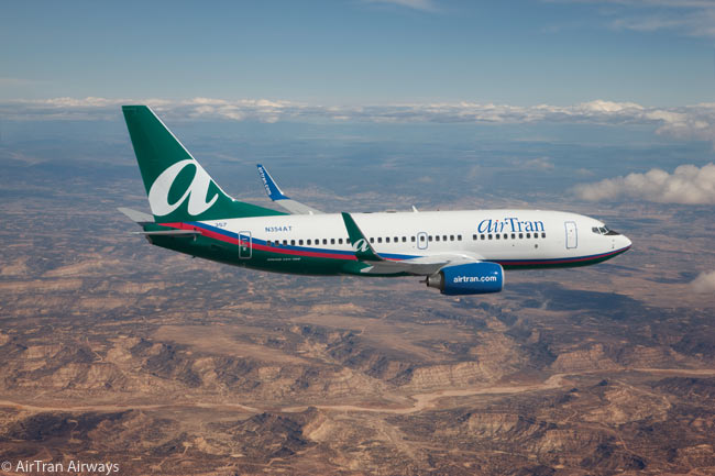 The Boeing 737-700 was the second aircraft type that AirTran ordered. Eventually AirTran would order more than 100 Boeing 737-700s before the carrier was purchased by Southwest Airlines