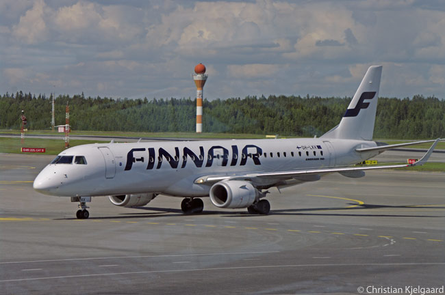 Finnair has transferred a fleet of 12 Embraer 190s, which it uses on sort-haul domestic and international routes, to partner Flybe Nordic to operate on its behalf