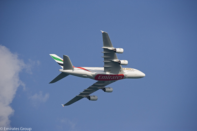Emirates, the Dubai-based carrier which is one of the largest international airlines in the world, is by far the biggest customer for the Airbus A380, with a total of 90 ordered as of mid-2012. The airline has indicated it eventually hopes to operate even more examples of the superjumbo aircraft and that it would be a launch customer for a stretched version of the A380, carrying even more passengers