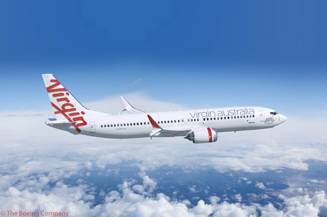 On July 6, 2012, just before the start of the Farnborough International Airshow 2012, Virgin Australia finalized an order for 23 Boeing 737 MAX 8 jets and took options on four more