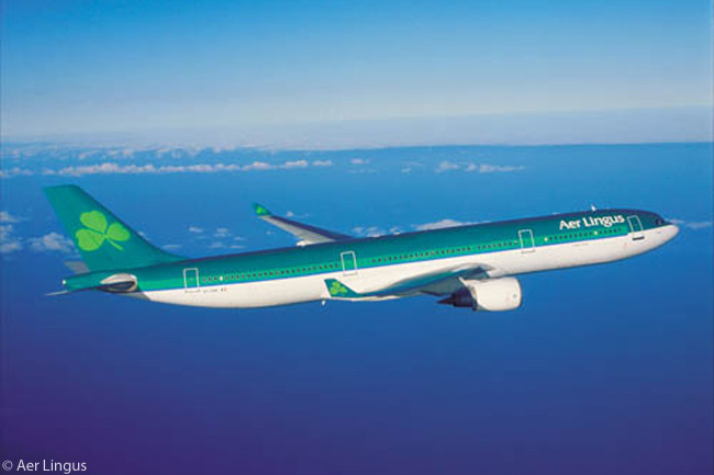 Its aircraft wearing a distinctive green-themed livery featuring the shamrock, the national emblem of Ireland, Aer Lingus operates a long-haul fleet of four Airbus A330-300s (one of which is seen here) and three A330-200s. Aer Lingus also has nine A350-900 widebodies on order