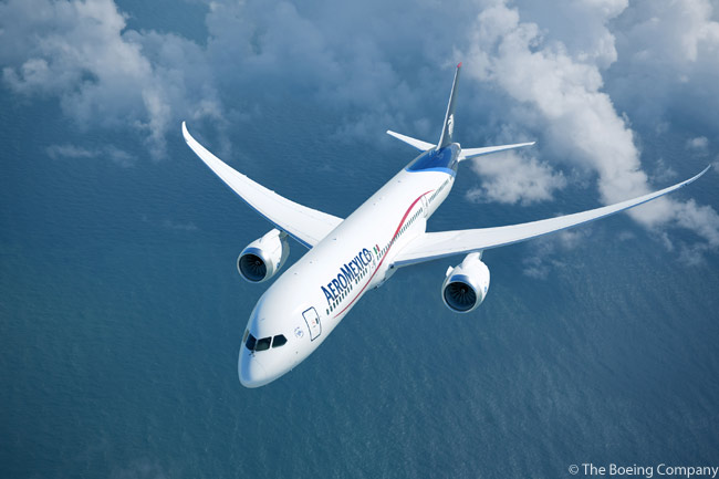 In addition to acquiring seven Boeing 787-8s (two ordered and five leased), AeroMexico committed on July 25, 2012 to purchasing 10 Boeing 787-9s. AeroMexico firmed an order for six of these 787-9s on December 27, 2012, securing reconfirmation rights on the other four aircraft