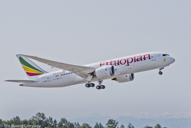 Ethiopian Airlines took delivery on August 14, 2012 of the first of 10 Boeing 787-8s it had on order