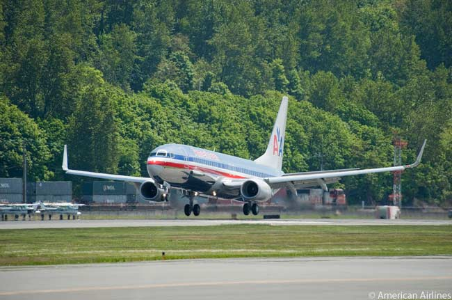 The Boeing 737-800 is replacing the McDonnell Douglas MD-80 as one of the single-aisle mainstays of American Airlines' fleet