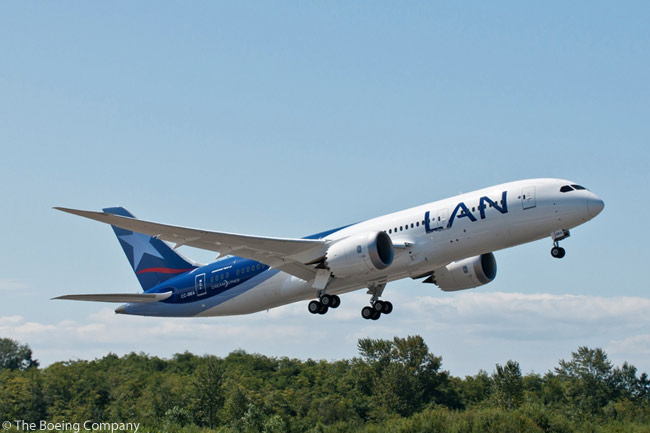 Santiago, Chile-based LAN Airlines is acquiring 22 Boeing 787-8s and 10 787-9s from the manufacturer and from leasing companies