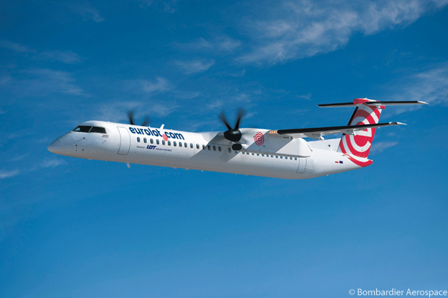 On September 4, 2012, Eurolot converted options on six Bombardier Q400 NextGen regional turboprops to a firm order, increasing its total firm purchase of the type by that date to 14 aircraft. Eurolot also held options on a further six Q400 NextGens