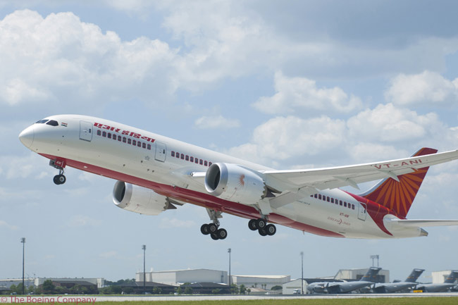 Air India took delivery of the first of 27 Boeing 787-8s on order on September 6, 2012, from Boeing's 787 delivery center at North Charleston, South Carolina. Air India became the fifth airline to take delivery of a Boeing 787