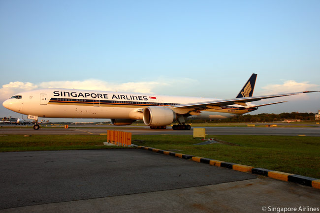 Singapore Airlines has a total of 27 Boeing 777-300ERs in service and on order