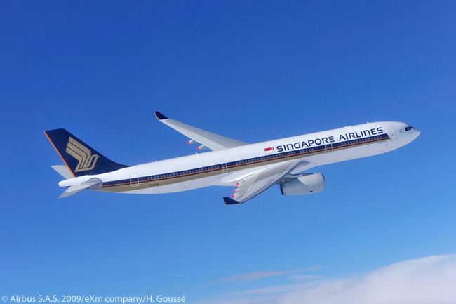 By 2012, Singapore Airlines had ordered 34 Airbus A330-300s, placing a first order for 19 and then following up with another order for 15