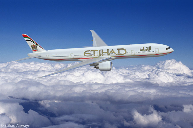 Abu Dhabi's Etihad Airways operates and has on order a total of 18 Boeing 777-300ERs, and has optioned 12 more