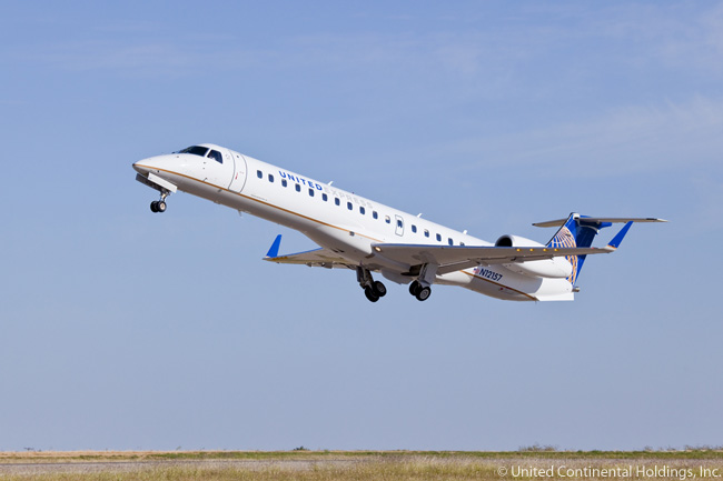 A large number of Embraer regional jets operate on the United Express network. Most are operated under a franchise agreement by ExpressJet, a subsidiary of Skywest, Inc.