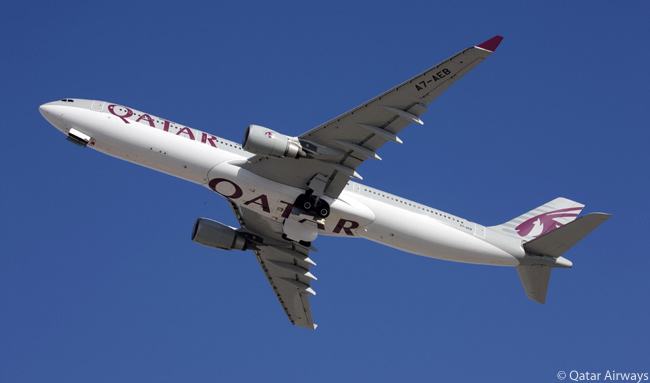Qatar Airways' fast-growing fleet includes 16 Airbus A330-200s and 13 A330-300s. This is one of the carrier's A330-300s
