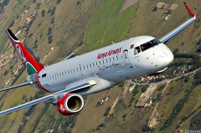 The 13th Embraer E-Jet delivered to Kenya Airways was the 900th E-Jet delivered overall by Embraer. The manufacturer handed over the Embraer 190 to the airline on October 10, 2012