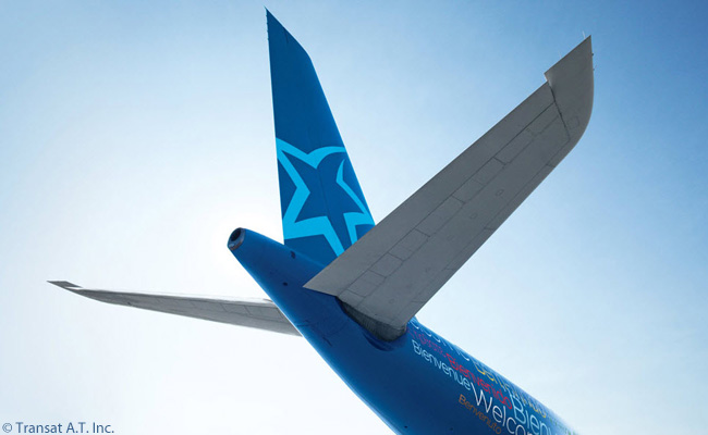 Air Transat's aircraft are quickly recognizable because of the company's distinctive star logo, which they sport on their tails