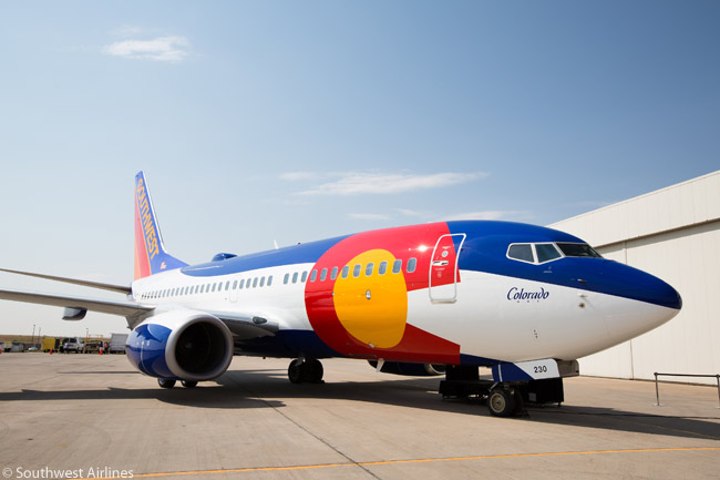 Southwest Airlines unveiled Colorado One, another of its specially painted, U.S. state-themed Boeing 737s on August 22, 2012