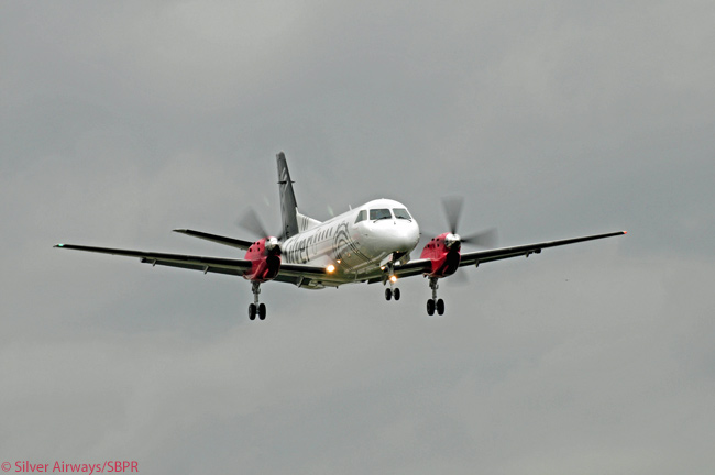 Most of Florida's commercial-service airports have become used to the sight of Silver Airways Saab 340Bplus turboprops arriving and departing. The regional carrier claims to have the biggest intra-Florida network and schedule of any airline. The photo is courtesy of Silver Airways/SBPR