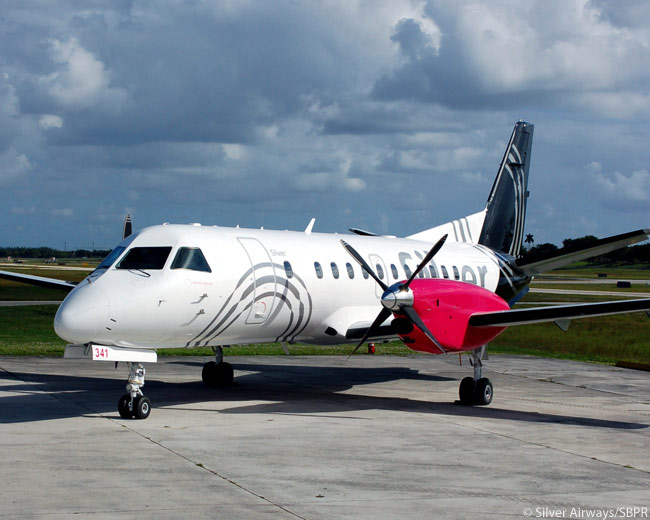 Renamed Silver Airways after its Chicago-based owner Victory Park Capital bought assets from the bankrupt Gulfstream International Airlines, Silver Airways adopted a colorful and distinctive new livery when it was re-branded. The photo is courtesy of Silver Airways/SBPR