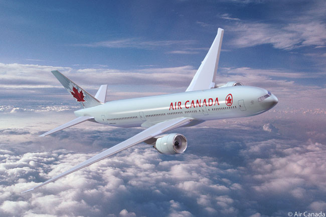 Air Canada operates six Boeing 777-200LRs as part of its sizable long-haul fleet