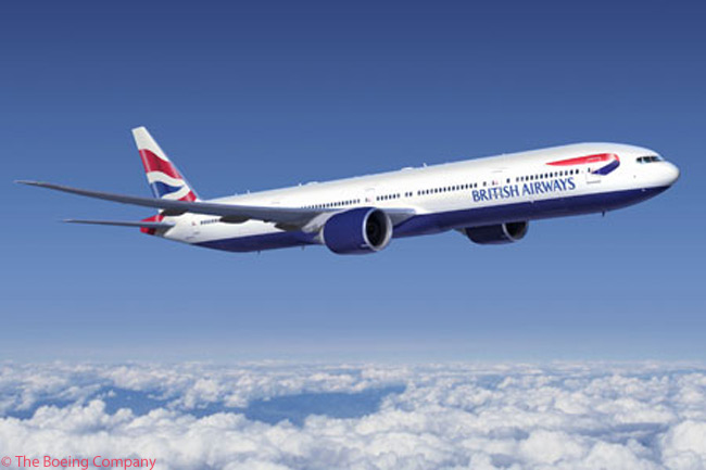 By late 2012, British Airways had ordered or leased a total of 10 Boeing 777-300ERs