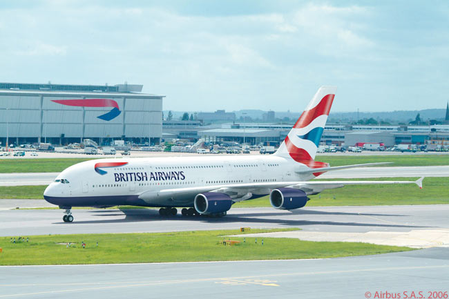 British Airways has ordered 12 Airbus A380s and is due to receive the first of its 469-seat superjumbos in July 2013