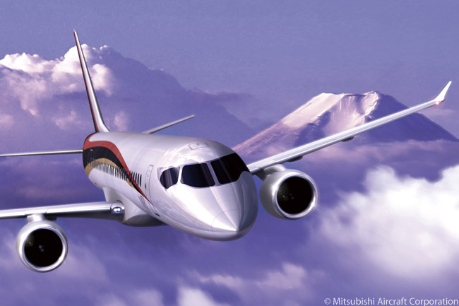 The Mitsubishi MRJ family of 70-to-90-seat regional jets is powered by the PW1200G, the smallest model to date in the new Pratt & Whitney PurePower PW1000G geared-turbofan family of engines