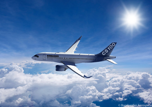 The CS100 is the shorter of the two initial versions of the Bombardier CSeries family to be designed and built by the Canadian manufacturer. The CS100 is optimized to carry 100 to 125 passengers, while the longer CS300 is optimized to carry from 126 to 149 passengers