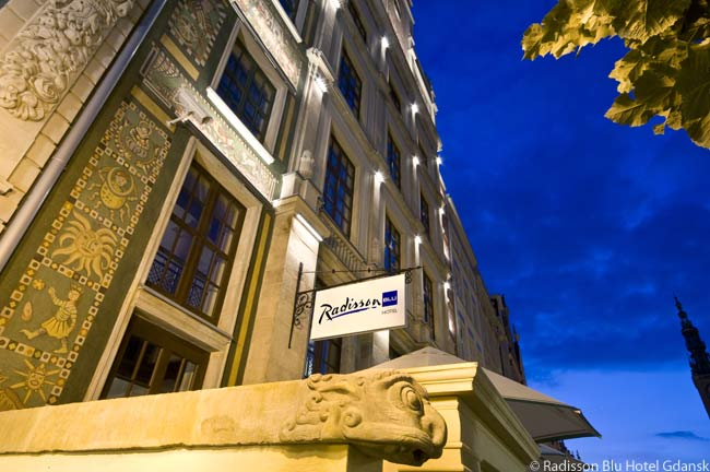 While the Radisson Blu Hotel Gdansk is contained in a modern building, it is located next to the remains of a 14th century home very close to the Polish seaport's picturesque and thriving Long Market