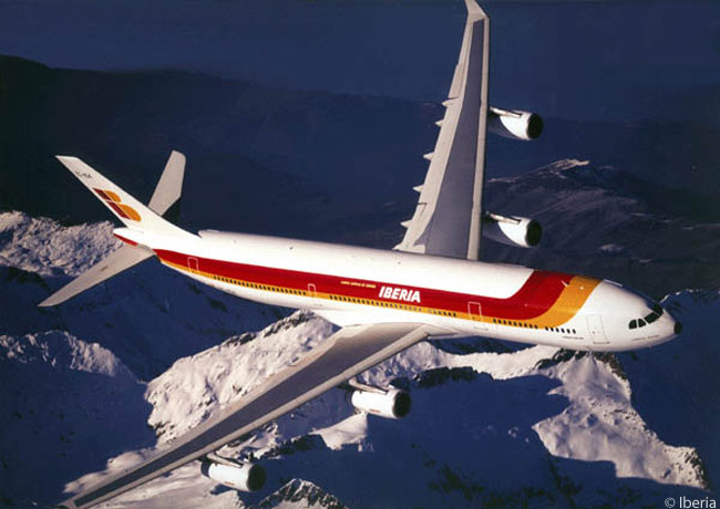Iberia's long-serving fleet of 17 Airbus A340-300s is gradually being replaced by new A330-300 twinjets ordered by the airline. The A330-300 has virtually the same cabin capacity as the A340-300 but slightly less range, though the twinjet type burns far less fuel than the four-engine A340