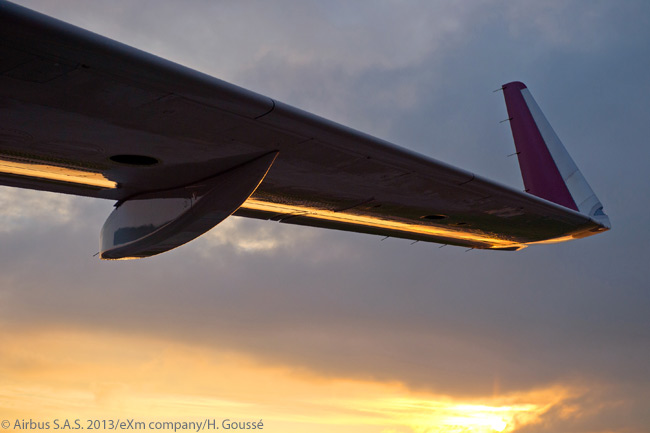 Airbus began delivering A320-family aircraft with drag-reducing Sharklet wing-tip devices in late 2012