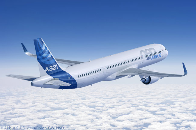 In January 2013, Airbus began offering airlines two new options for configuring the floor space offered by the A321neo. The options allow more flexibility and increase the number of seats which can be installed, for the same comfort standard, according to Airbus. In addition, the A321neo's maximum exit limit was raised from 220 seats to 236