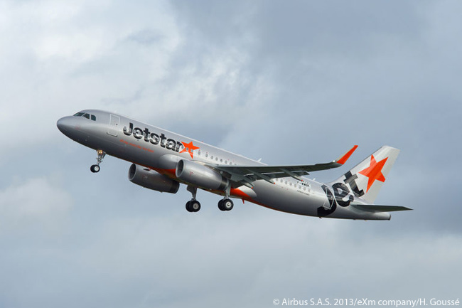 Jetstar Japan took delivery of its first Sharklet-equipped Airbus A320 on February 19, 2013, becoming the first Japanese airline to operate an A320-family jet with Sharklets