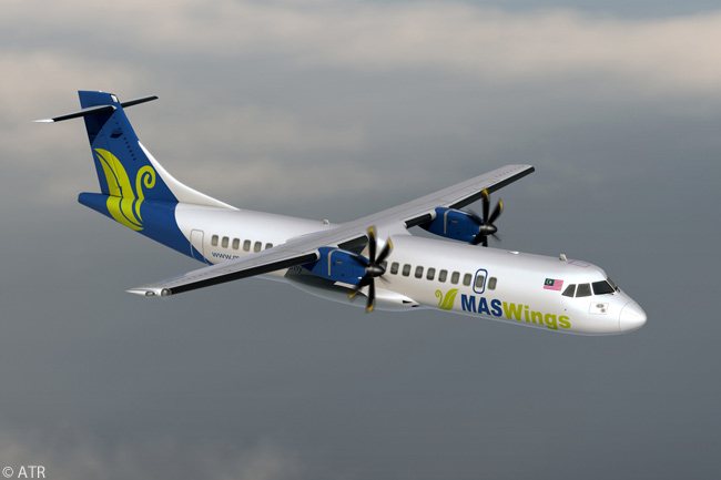 MASwings, a regional-airline subsidiary of Malaysia Airlines operating on domestic and international routes from the East Malaysia states in the island of Borneo, operates 10 ATR 72-500s and will also add to its fleet many of the 20 ATR 72-600s ordered by its parent company on February 19, 2013