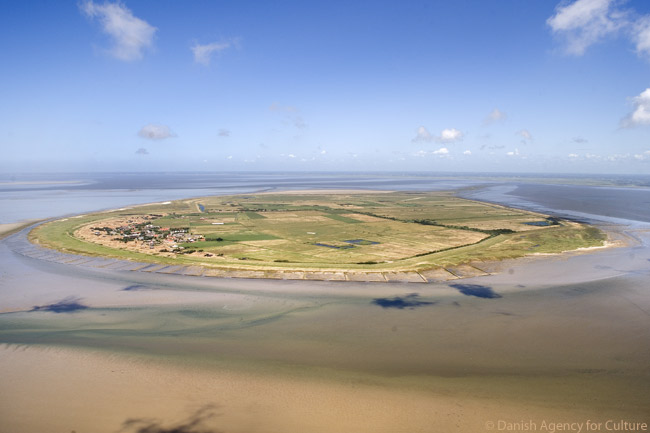 This photograph is of Mandø, one of the islands in the Danish Wadden Sea off the southwest coast of Jutland. Denmark applied in February 2013 to have the Danish Wadden Sea added to the UNESCO World Heritage List
