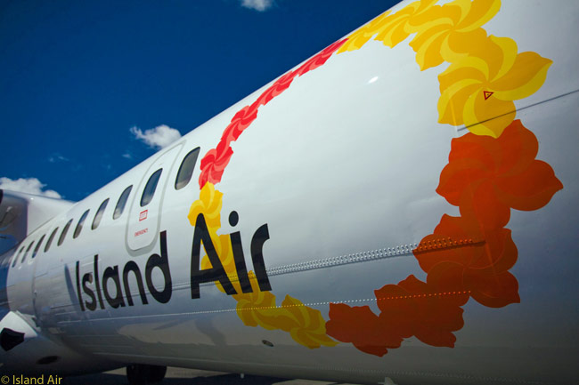 Fittingly, Island Air's logo is a representation of a Hawaiian lei