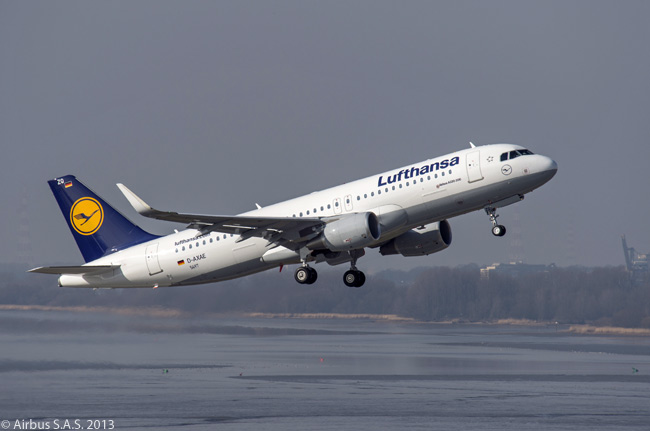Lufthansa took delivery on March 1, 2013 of its first new Airbus A320 equipped with drag-reducing, fuel-saving Sharklets. The German airline would be the first European carrier to operate an A320-family jet fitted with Sharklets