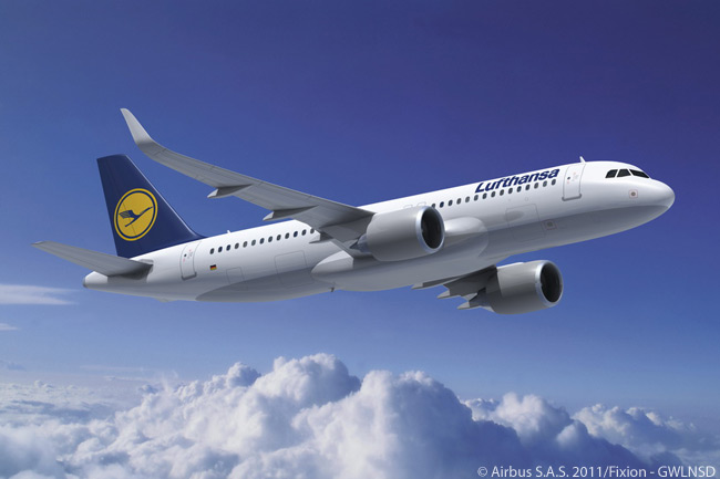 This is how the Airbus A320neo will look in Lufthansa colors