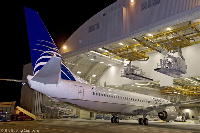 On March 18, 2013, Boeing rolled out the first 737NG built at the new production rate of 38 aircraft a month. Panamanian customer Copa Airlines was due to take delivery of the 737-800 in early April 2013