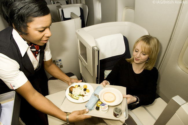 British Airways refers to its in-flight meal offerings as Height Cuisine: food designed to taste good at 30,000 feet