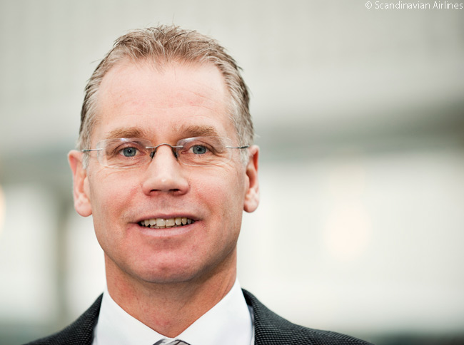 This is a photograph of Rickard Gustafson, president and chief executive officer of Scandinavian Airlines
