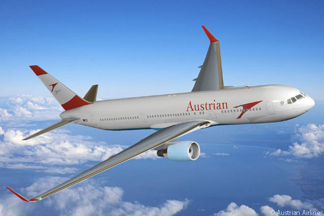 In addition to four Boeing 777-200ERs Austrian Airlines' long-haul fleet includes six Boeing 767-300ERs, which the carrier has had fitted with winglets as seen here