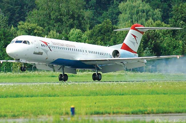 Austrian's Airlines' short-haul and regional-airliner fleet, operated under the Austrian Arrows brand, includes 15 Fokker 100s and nine Fokker 70s, as well as 13 Bombardier Q400 turboprops